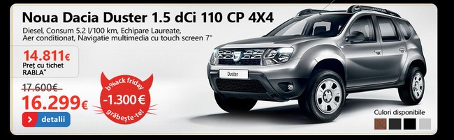 black friday 2013 dacia duster emag